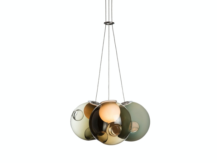 Bocci 28 3 Pendant Light Green Omer Arbel