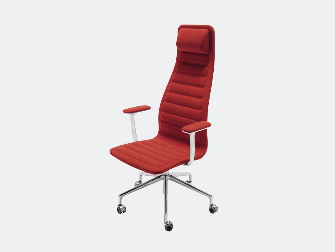 Cappellini Lotus Task Chair High Red Jasper Morrison