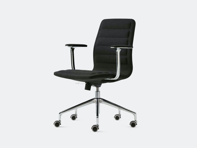 Cappellini Lotus Task Chair Low Black Jasper Morrison
