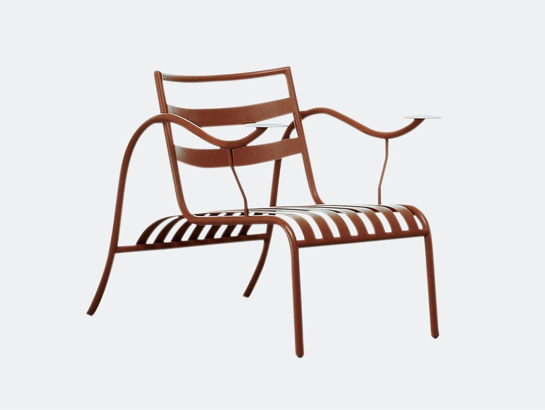 Cappellini Thinking Mans Chair Terracotta Jasper Morrison