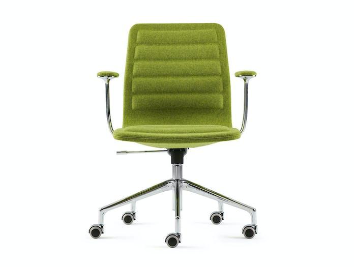 Cappellini Lotus Task Chair Low Green Front Jasper Morrison