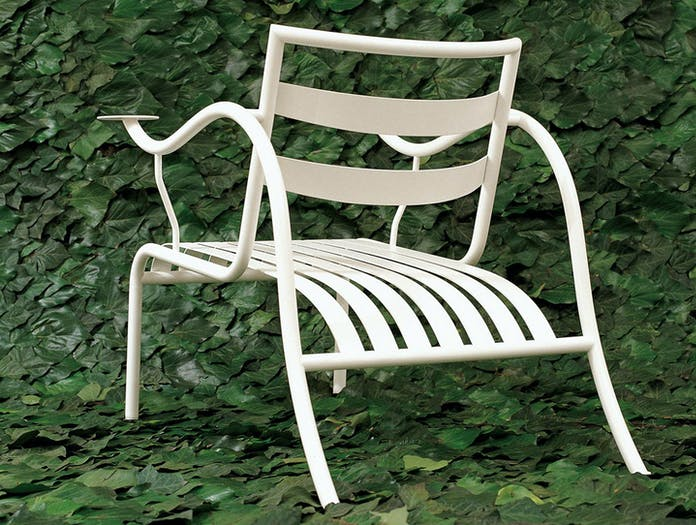 Cappellini Thinking Mans Chair White Outdoor Jasper Morrison