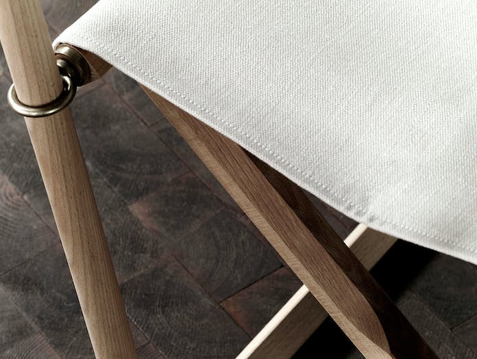 Carl hansen folding chair canvas beech detail