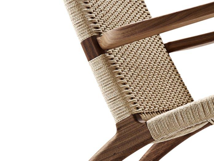 Carl hansen ch25 chair walnut cls