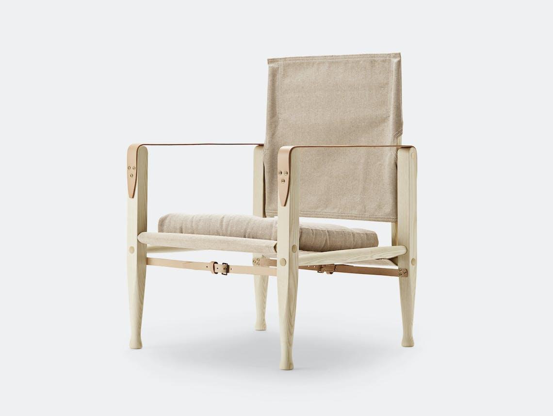 Carl Hansen Kk47000 Safari Chair Ash Natural Canvas Kaare Klint