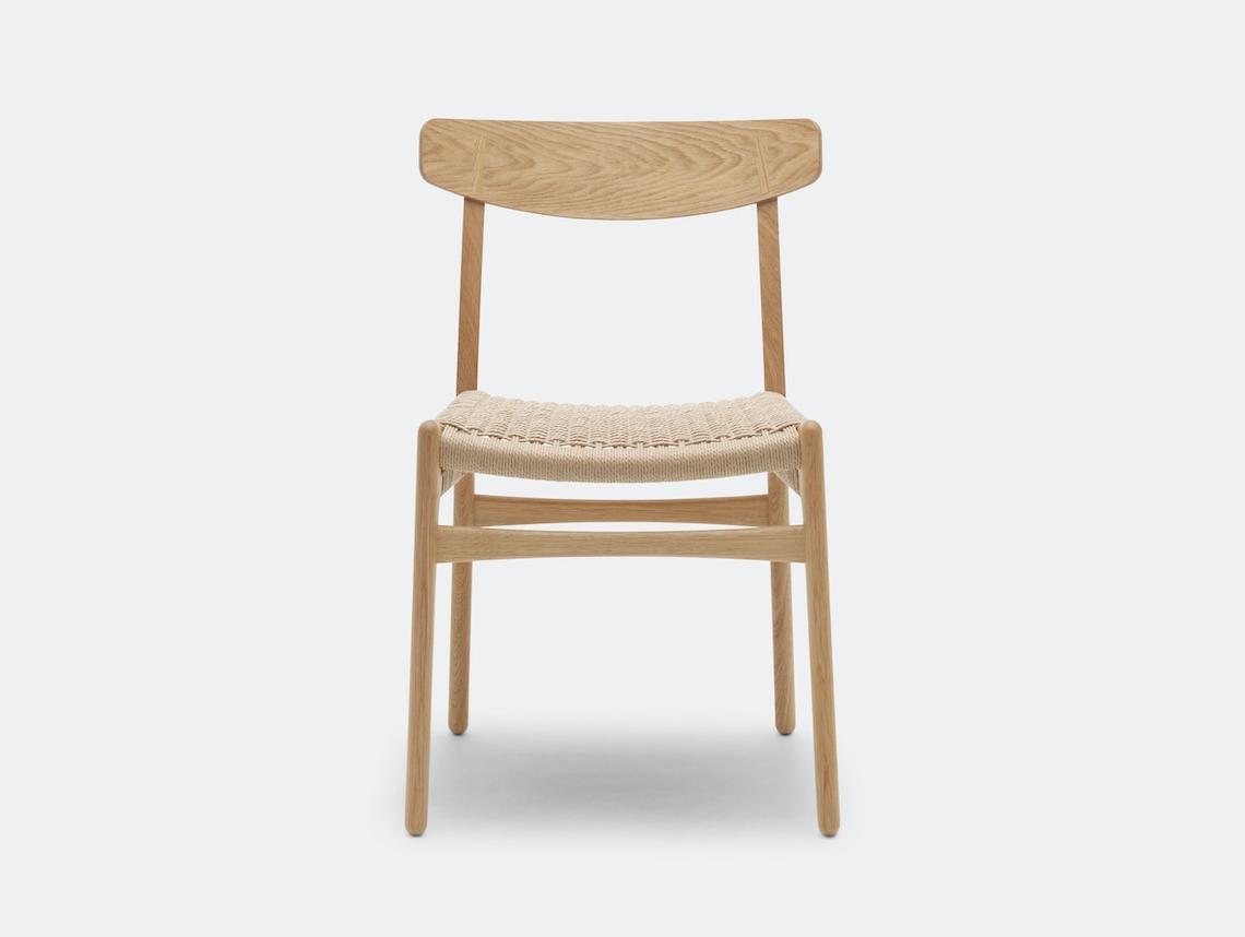 Carl Hansen Ch23 Chair Oak Oil Front Hans Wegner