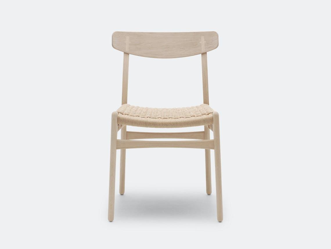 Carl Hansen Ch23 Chair Oak Soap Front Hans Wegner