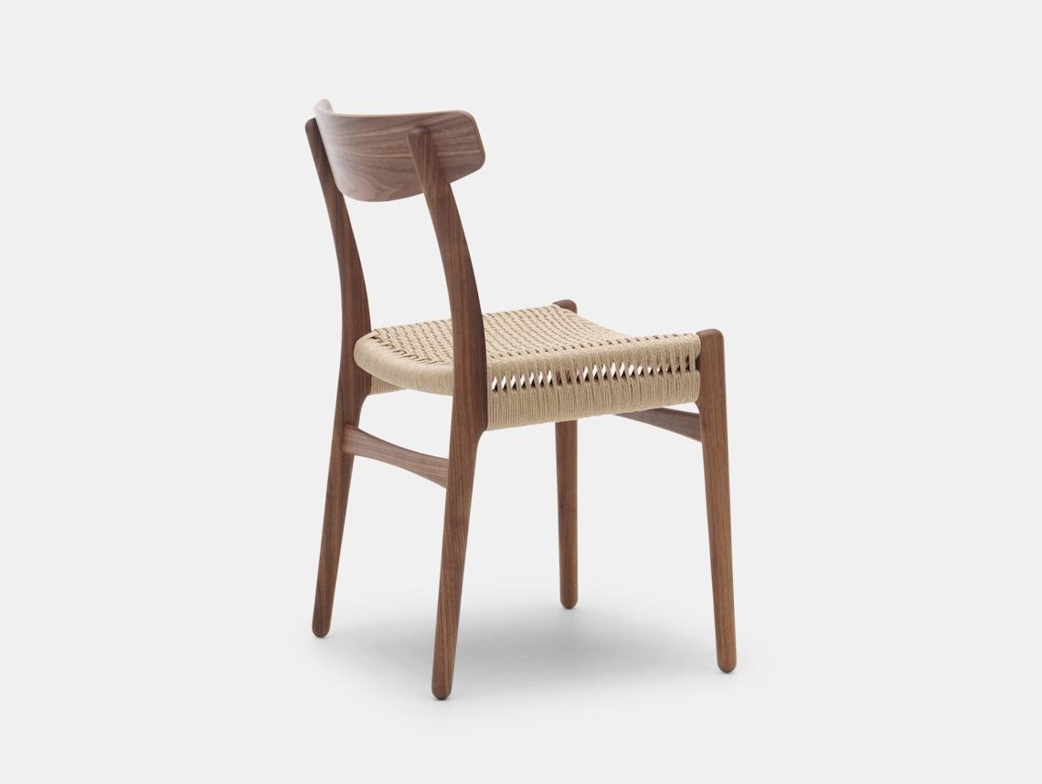 Carl Hansen Ch23 Chair Walnut Back Hans Wegner