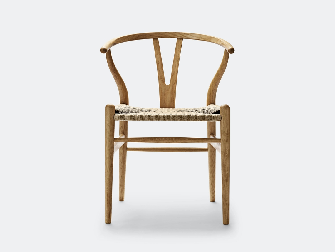 Carl Hansen Ch24 Wishbone Chair Oak Oil Natural Paper Cord Hans Wegner