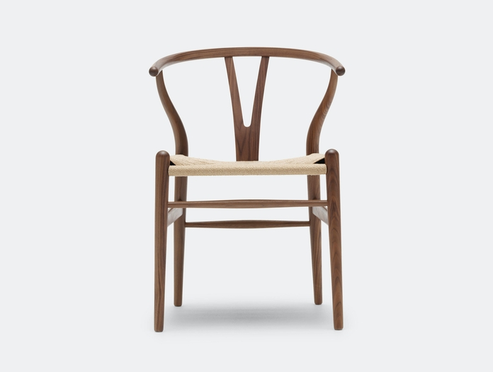 Carl Hansen Ch24 Wishbone Chair Walnut Natural Paper Cord Hans Wegner