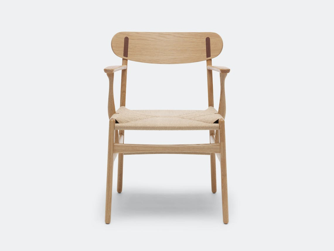 Carl Hansen Ch26 Chair Oak Walnut Cover Cap Hans Wegner