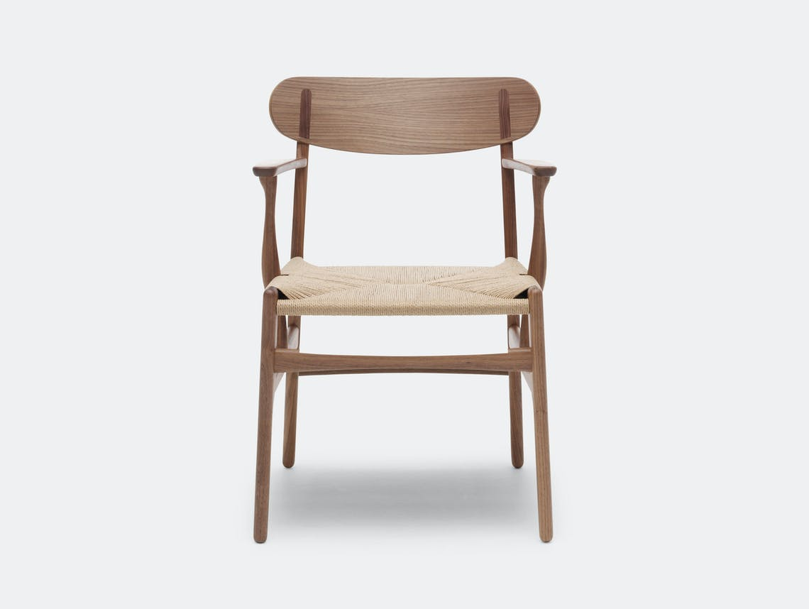 Carl Hansen Ch26 Chair Walnut Front Hans Wegner