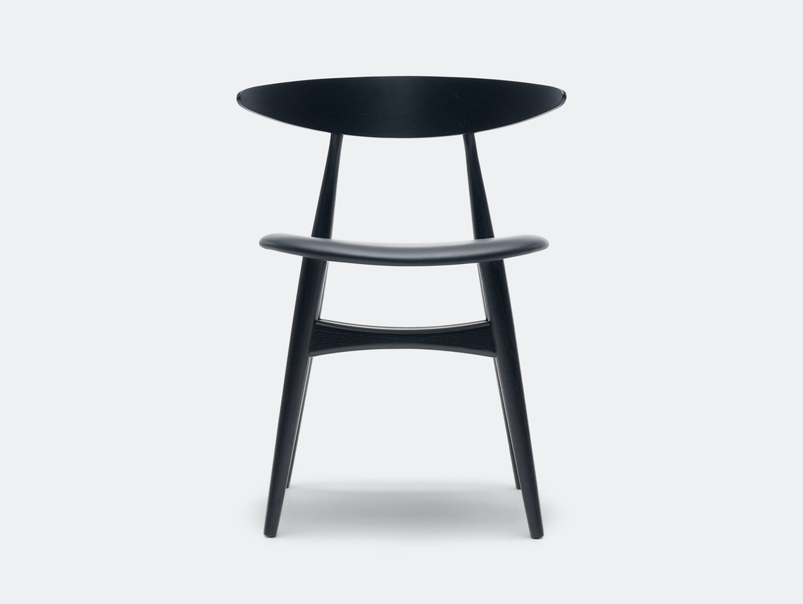 Carl Hansen Ch33 Chair Black Leather Hans Wegner