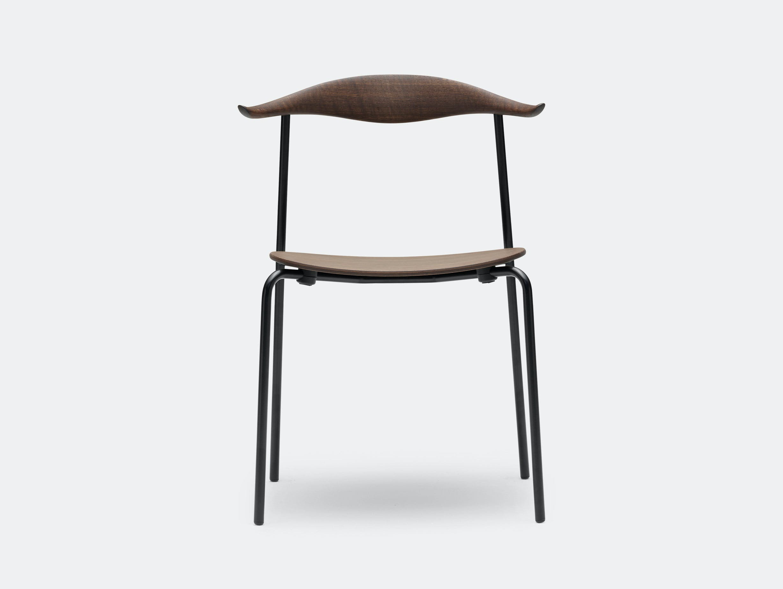 Carl Hansen Ch88 Chair Smoked Oak Oil Black Legs Front Hans Wegner