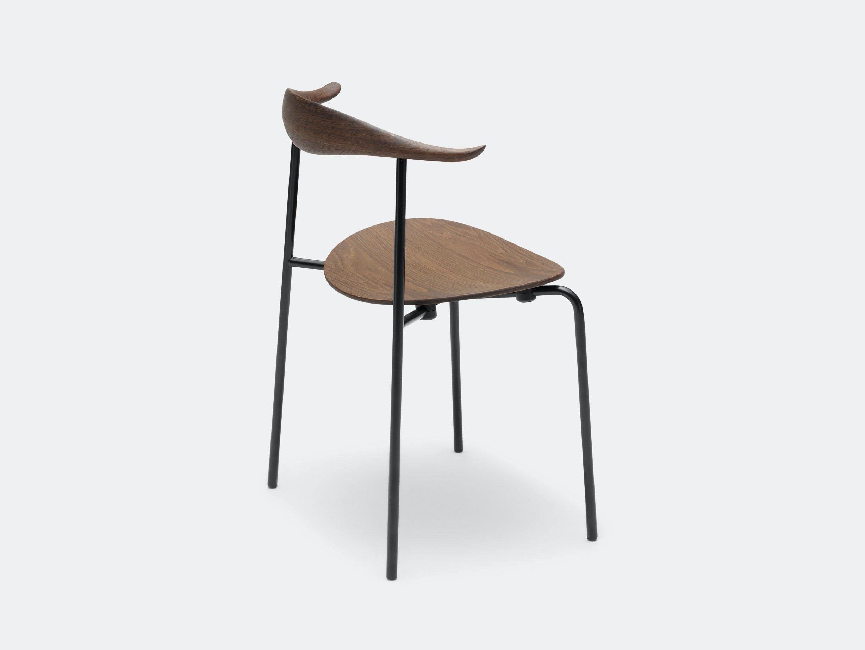 Carl Hansen Ch88 Chair Smoked Oak Oil Black Legs Hans Wegner