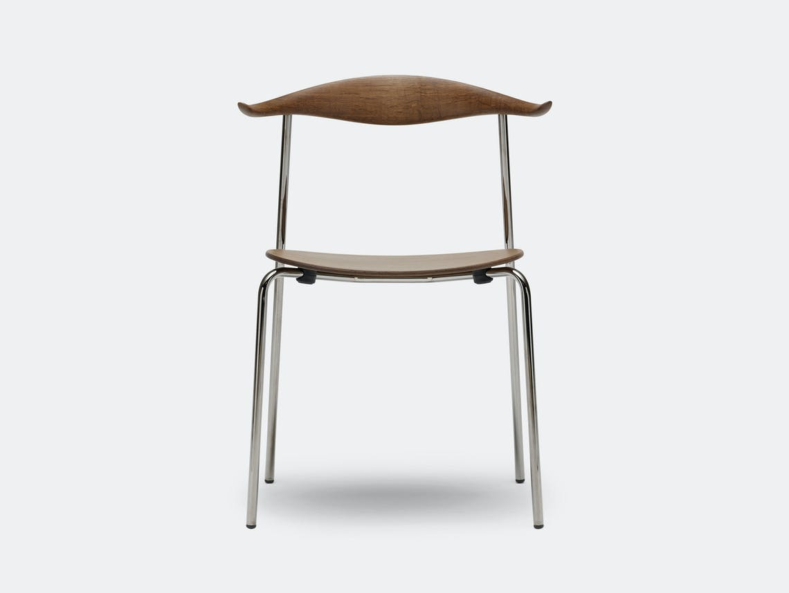 Carl Hansen Ch88 Chair Smoked Oak Oil Smoked Chrome Legs Hans Wegner