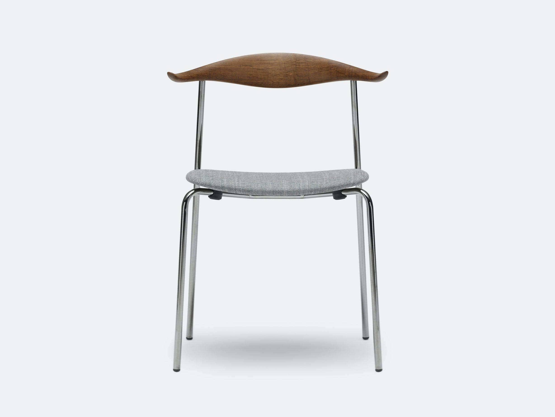 Carl Hansen Ch88 Chair Smoked Oak Oil Sunniva152Grey Chrome Legs Hans Wegner