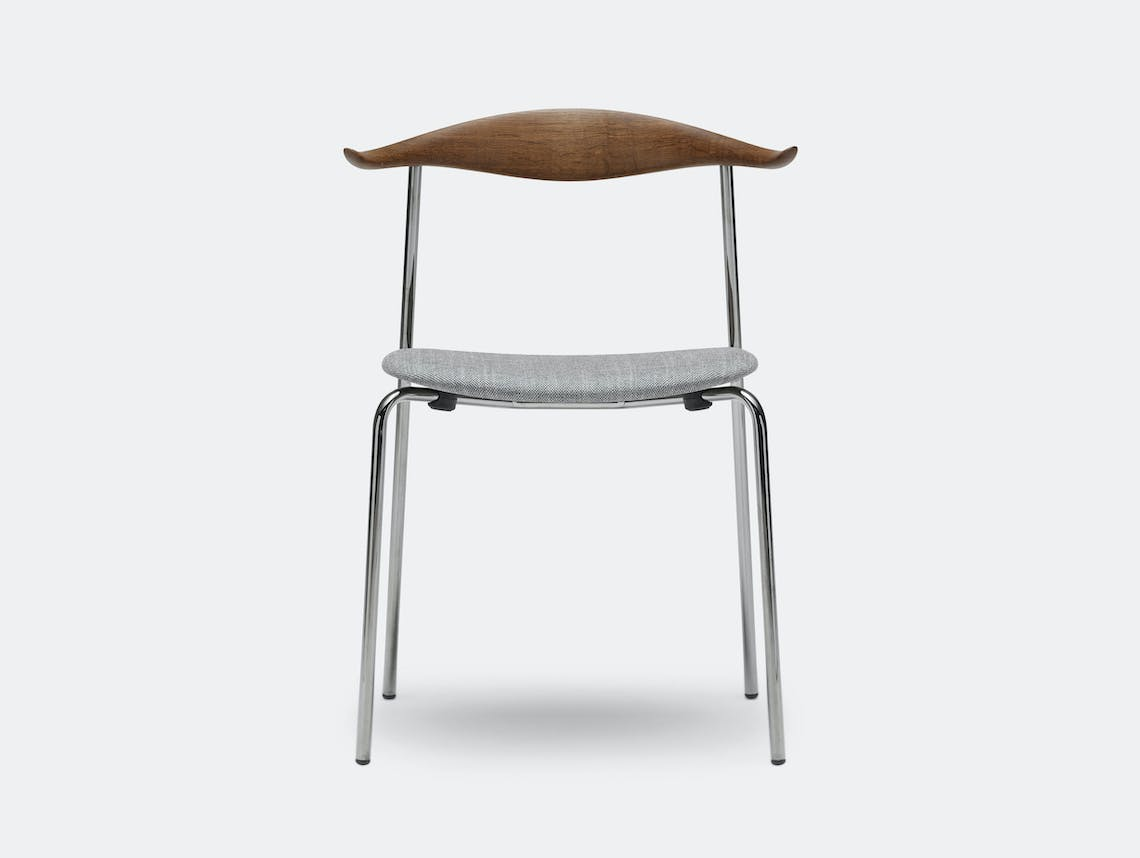 Carl Hansen Ch88 Chair Smoked Oak Oil Sunniva152Grey Chrome Legs Hans Wegner