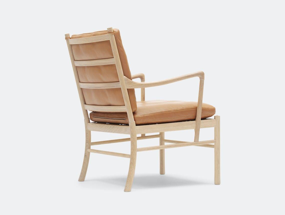 Carl Hansen Ow149 Colonial Chair Oak Leather Back Ole Wanscher
