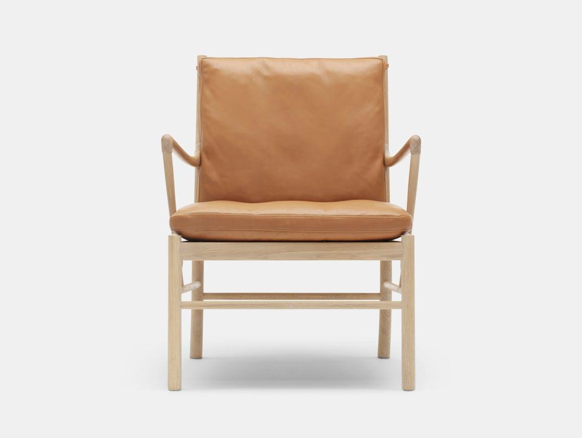 Carl Hansen Ow149 Colonial Chair Oak Leather Ole Wanscher