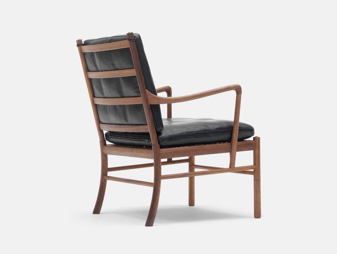 Carl Hansen Ow149 Colonial Chair Walnut Leather Back Ole Wanscher