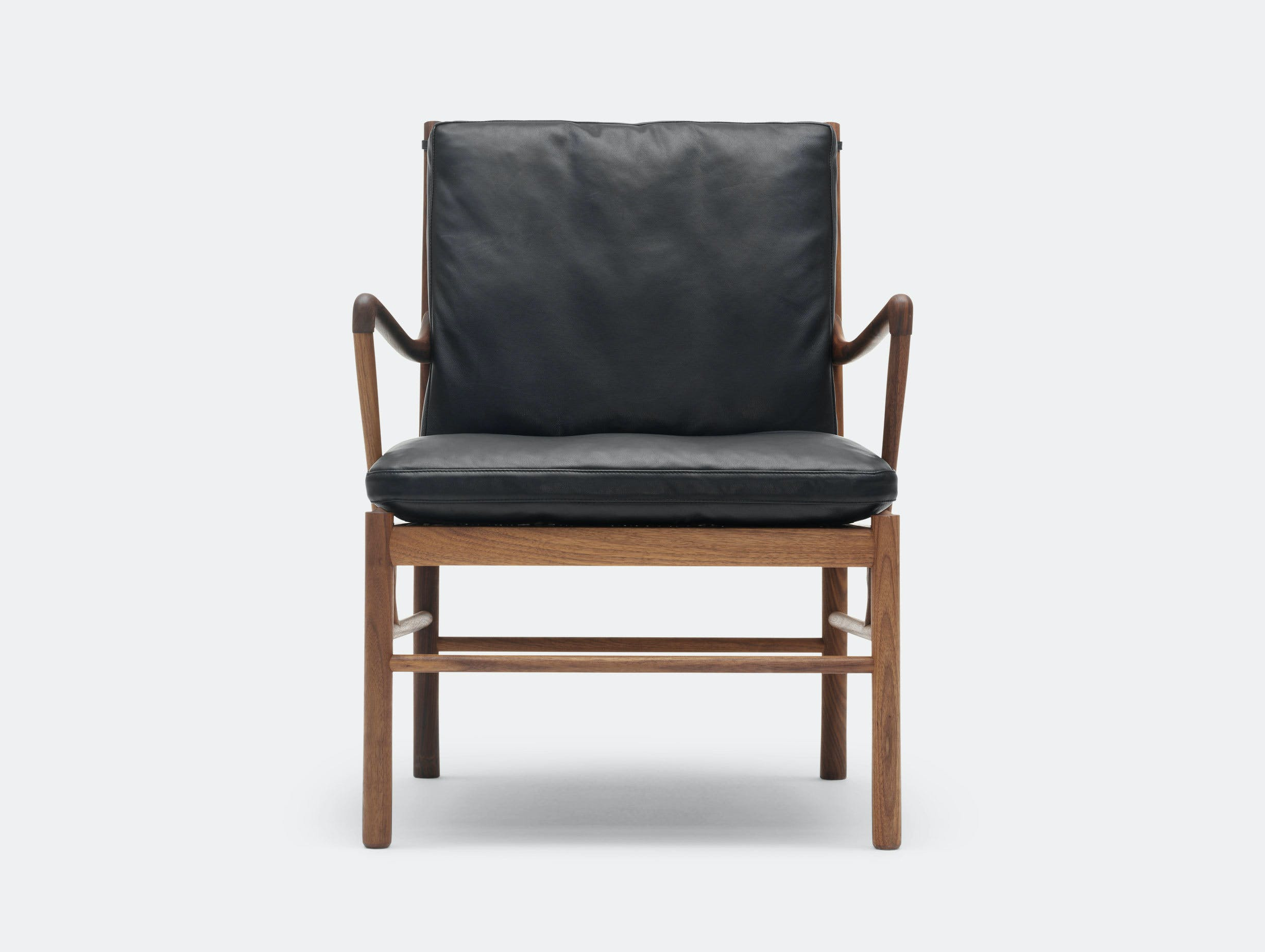 Carl Hansen Ow149 Colonial Chair Walnut Leather Ole Wanscher