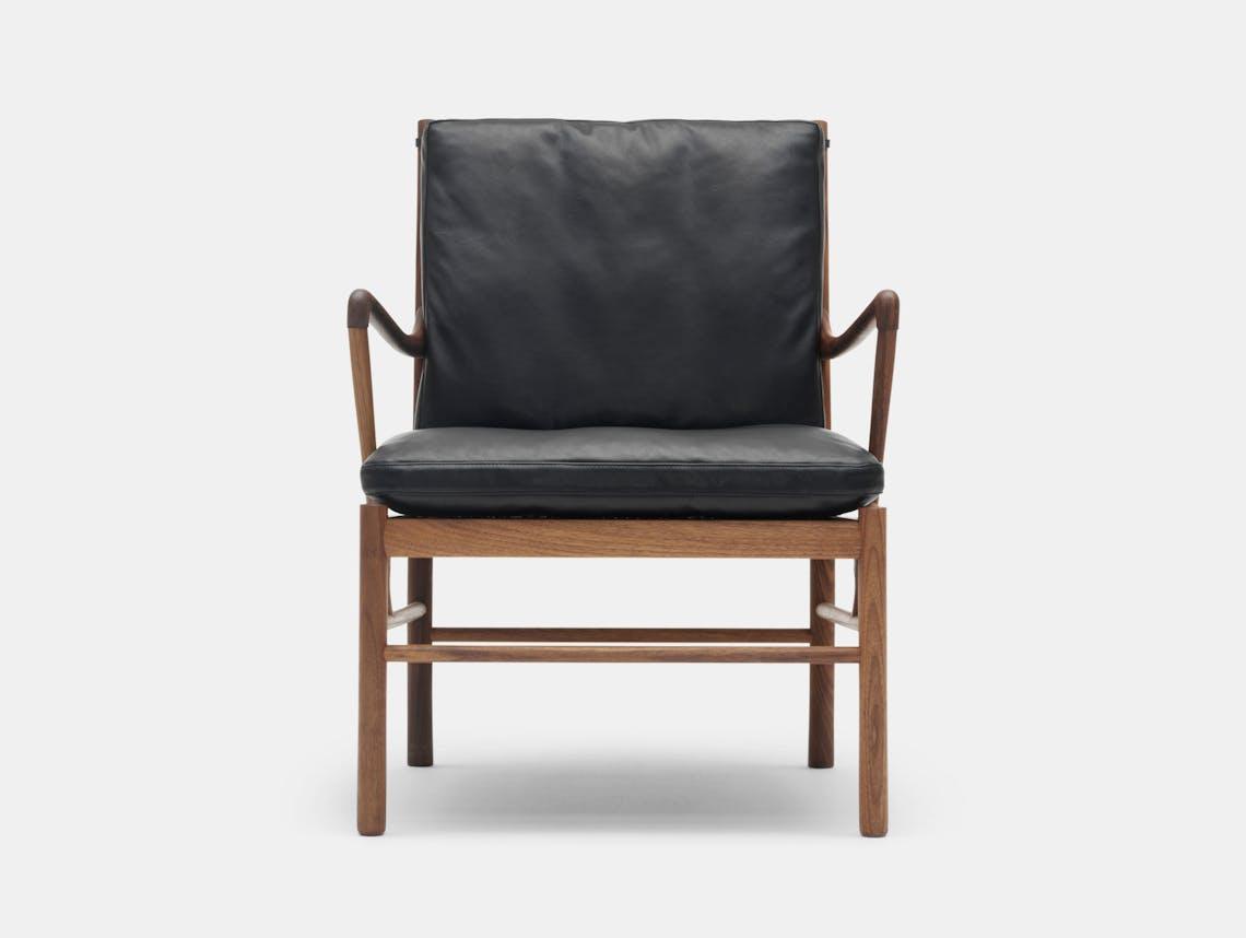 Carl Hansen Ow149 Colonial Chair Walnut Leather Ole Wanscher