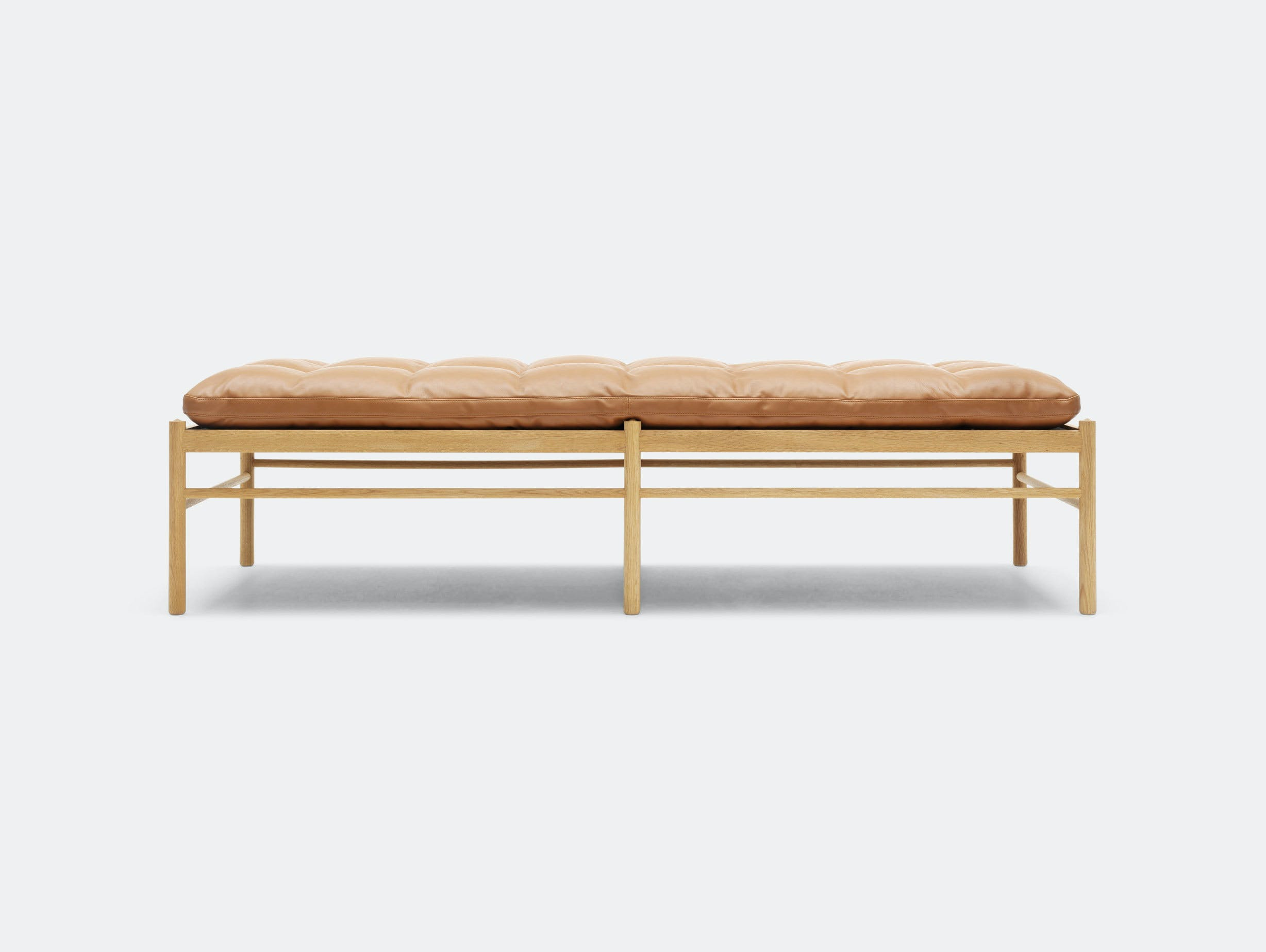 Carl Hansen Ow150 Daybed Oak Leather Ole Wanscher 2