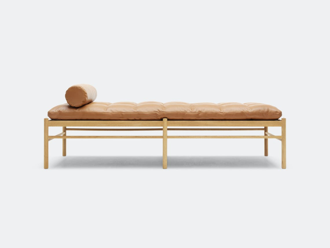 Carl Hansen Ow150 Daybed Oak Leather Ole Wanscher