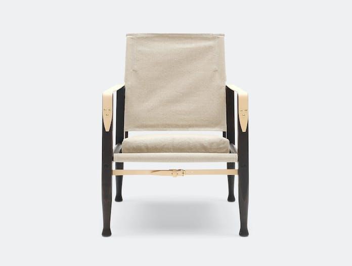 Carl Hansen Kk47000 Safari Chair Smoked Ash Natural Canvas Front Kaare Klint