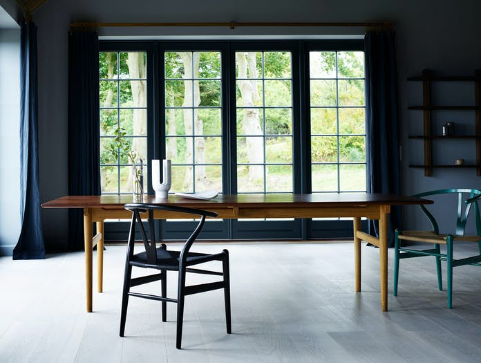 Carl Hansen Ch24 Wishbone Chair Ch327 Table