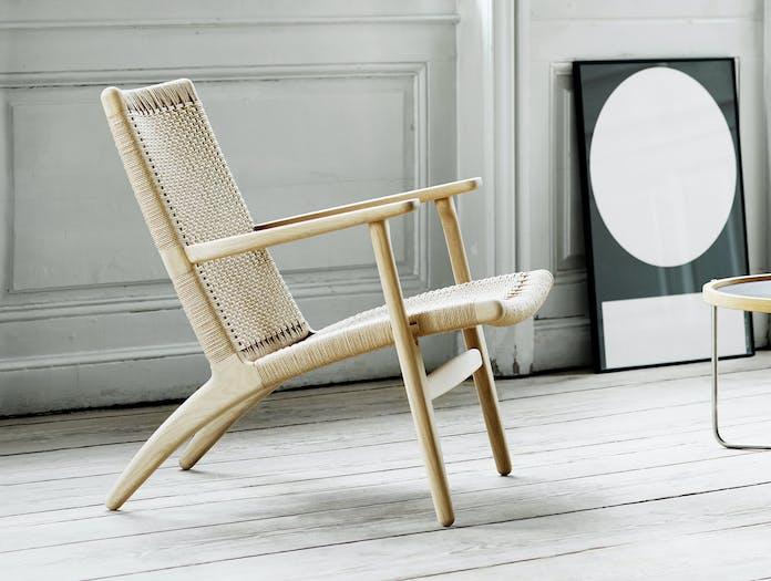 Carl Hansen Ch25 Oak Lounge Chair Hans Wegner