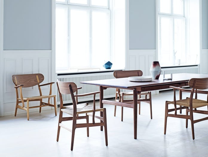 Carl Hansen Ch26 Walnut Oak Mix Hans Wegner