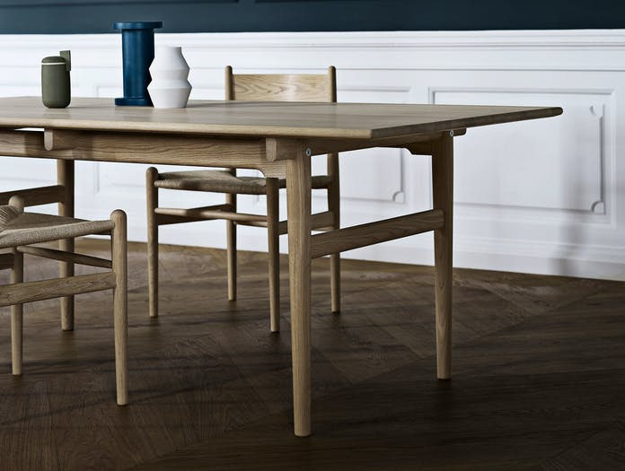 Carl Hansen Ch327 Table Oak White Oil Ch36 Oak White Oil Natural Paper Cord