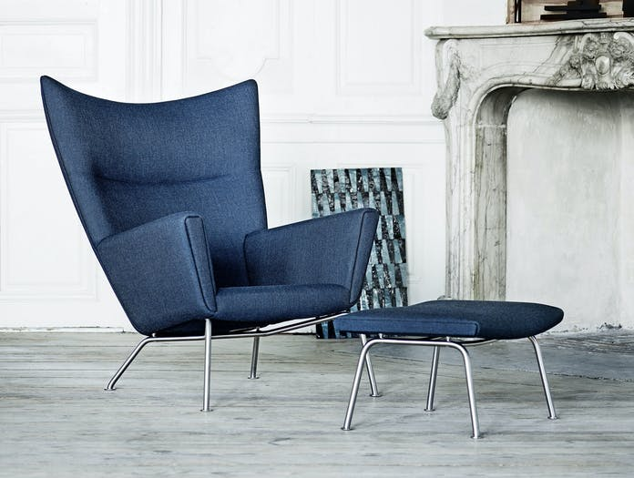 Carl Hansen Ch445 Wing Chair And Footstool