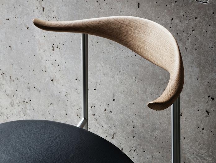 Carl Hansen Ch88 Chair Oak Leather Detail