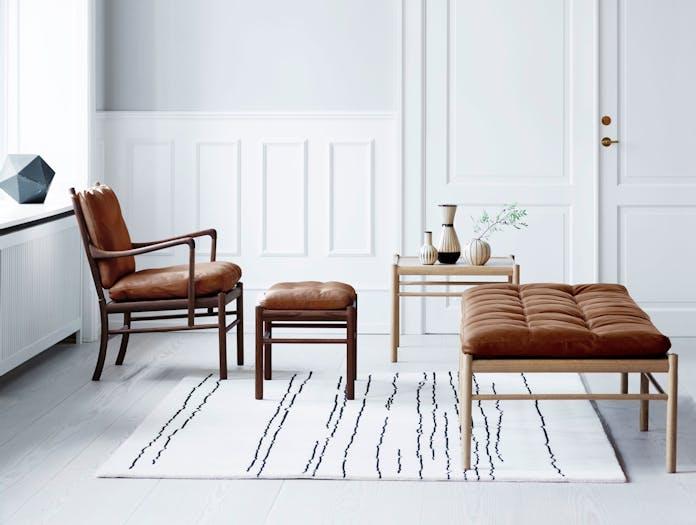 Carl Hansen Ow149 Colonial Chair Walnut Colonial Daybed Oak