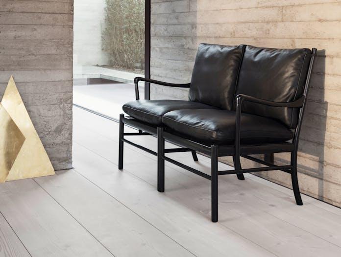 Carl Hansen Ow149 Colonial Sofa Black