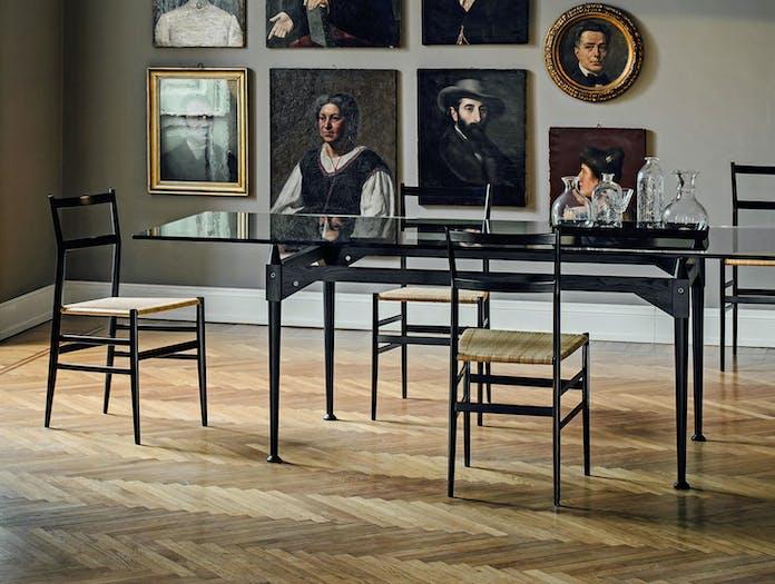 Cassina Superleggera Chairs Black Ash Gio Ponti