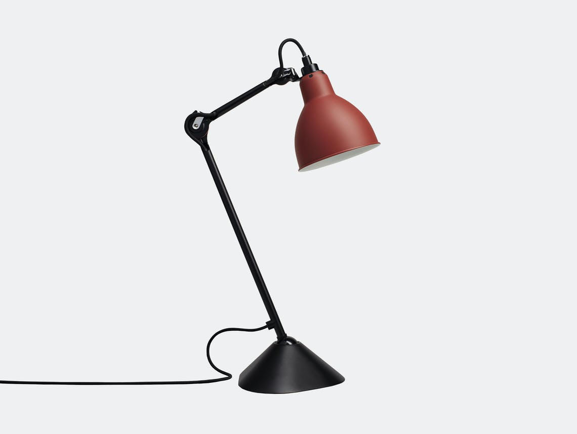 Dcw Lampe Gras No 205 Table Lamp Red Bernard Albin Gras