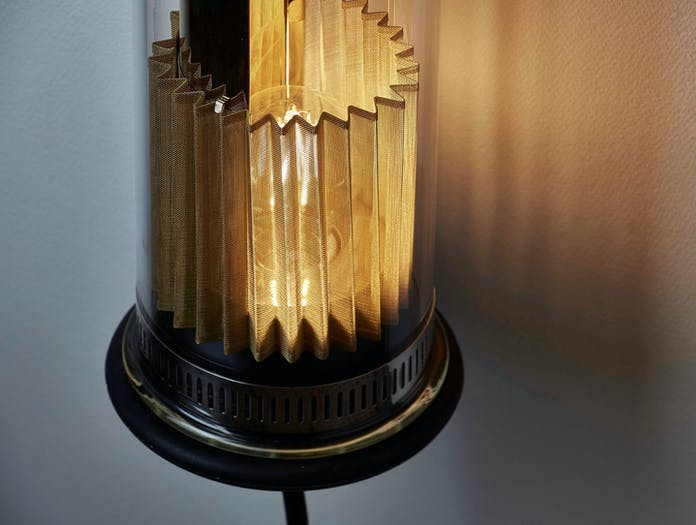 Dcw Itt 100 500 Wall Lamp Gold Detail 2 Dominique Perrault Gaelle Lauriot Prevost