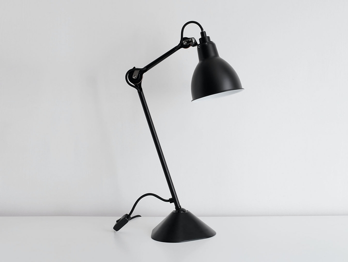 Dcw Lampe Gras No 205 Table Lamp Bl Black Bernard Albin Gras