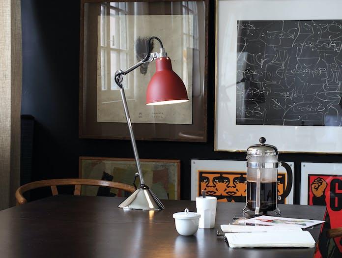 Dcw Lampe Gras No 205 Table Lamp Chrome Red Bernard Albin Gras