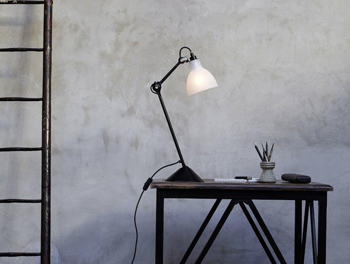 Dcw Lampe Gras No 205 Table Lamp Glass Shade Bernard Albin Gras