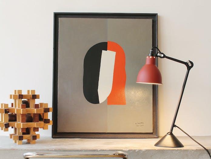 Dcw Lampe Gras No 205 Table Lamp Red 2 Bernard Albin Gras