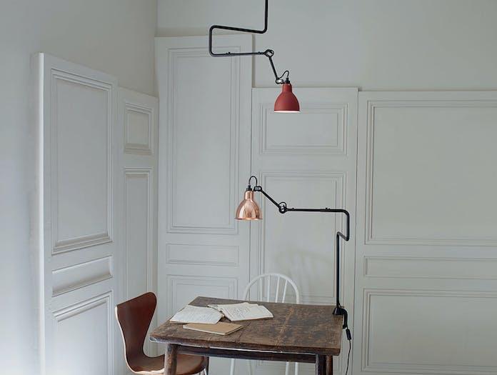 Dcw Lampe Gras No 312 Ceiling Lamp Red 2 Bernard Albin Gras