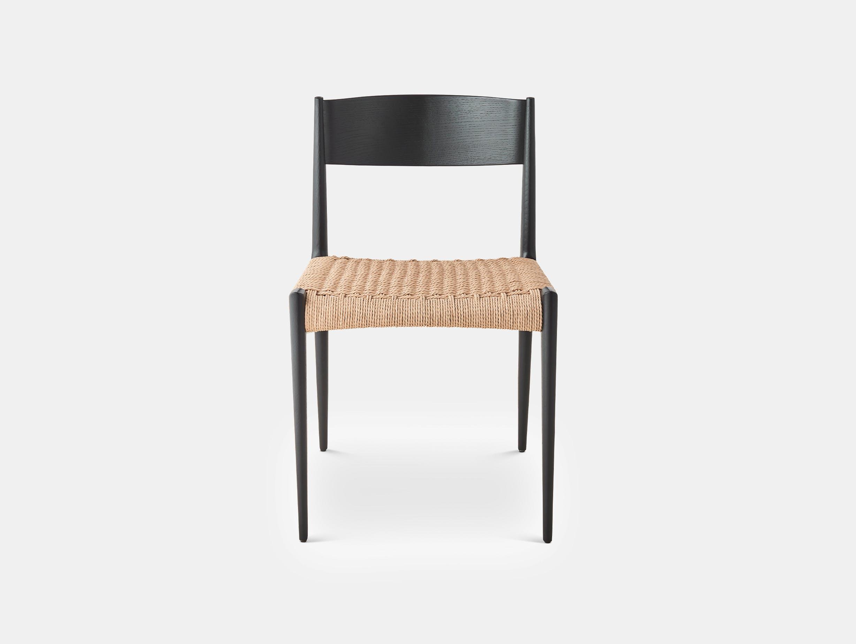Dk3 pia chair black lacquered oak