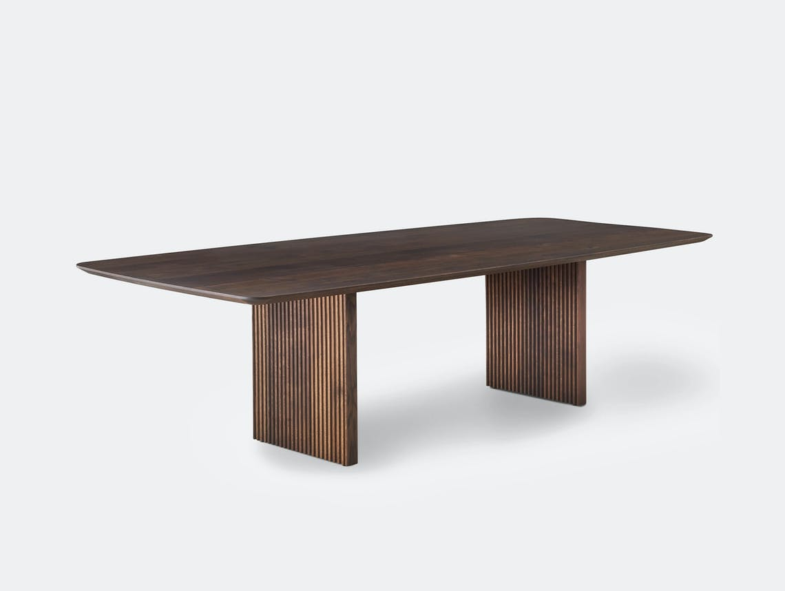 Dk3 ten table rectangle smoked oak