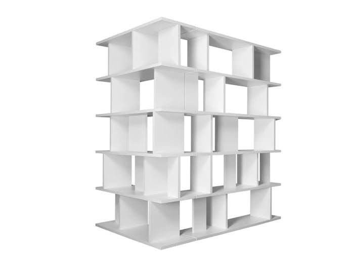 E15 Arie Shelves white high x2 corner Arik Levy