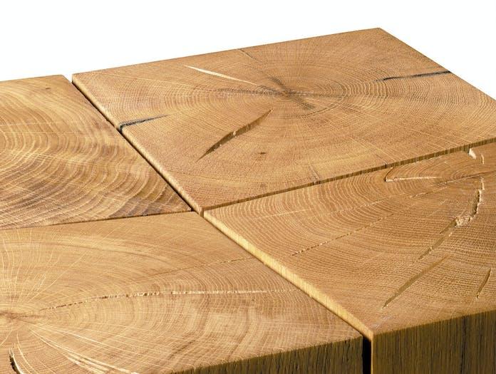 E15 BACKENZAHN stool oak detail w